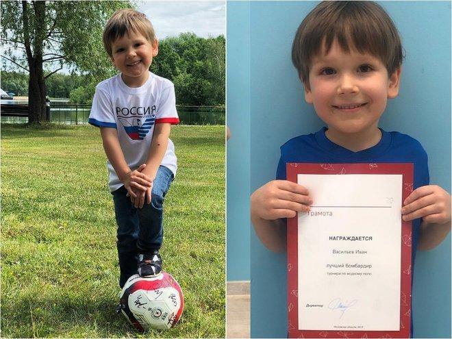 Сын Марии Кожевниковой увлекся футболом