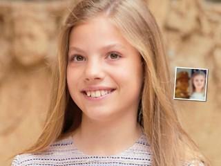 Невероятное сходство: испанская принцесса София растет копией своего папы-короля