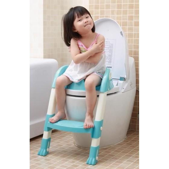 Сиденье на унитаз со ступенькой.