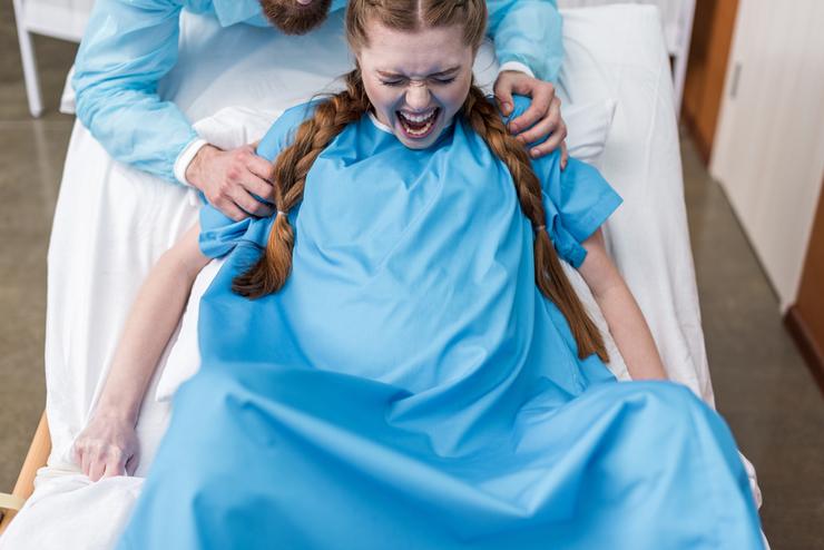 После родов наложили внутренние швы 10