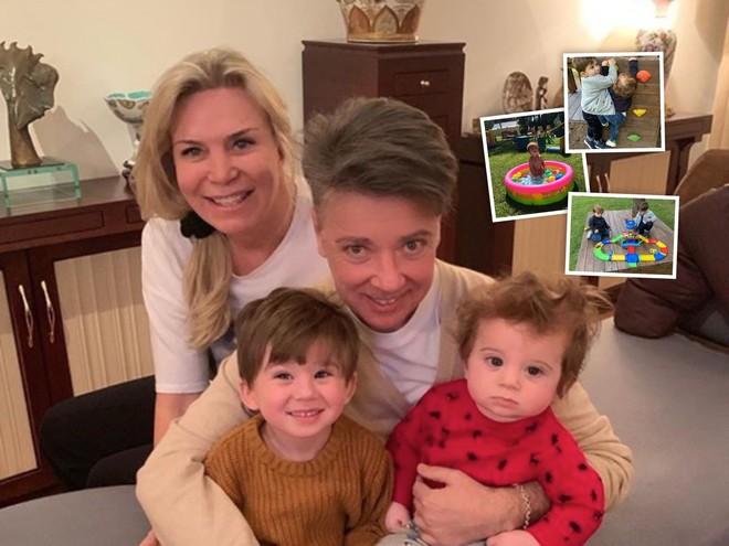 Детское счастье: у внуков Валентина Юдашкина есть свой парк развлечений во дворе
