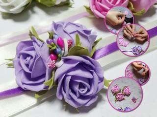 Свадебные детали: делаем цветочные браслеты для подружек невесты