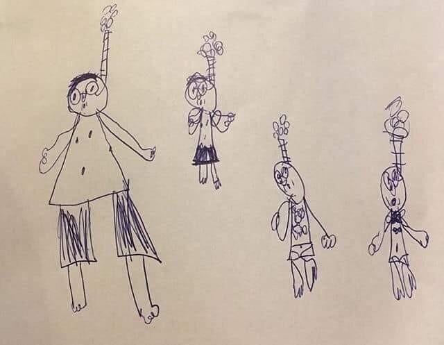 Ох уж эти детские рисунки)))