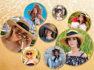 Тренд лета: Жасмин, Полина Гагарина и другие звезды и их дети в соломенных шляпах