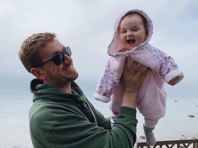 Кирилл Кяро с дочкой