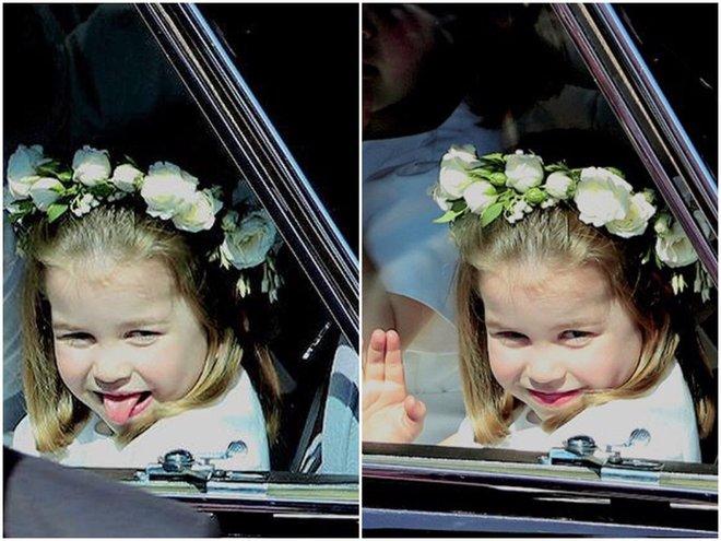 Принцесса Шарлотта на свадьбе принца Гарри