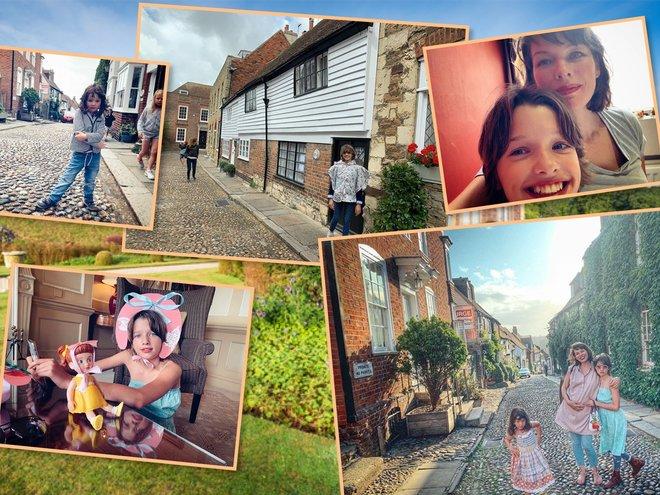 Милла Йовович с семьей путешествует по Англии
