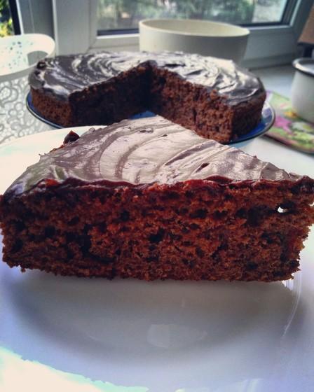 Очень шоколадный кекс на скорую руку