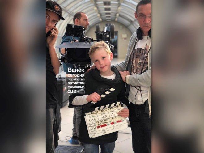 Сын Дениса Матросова и Марии Куликовой дебютировал в кино