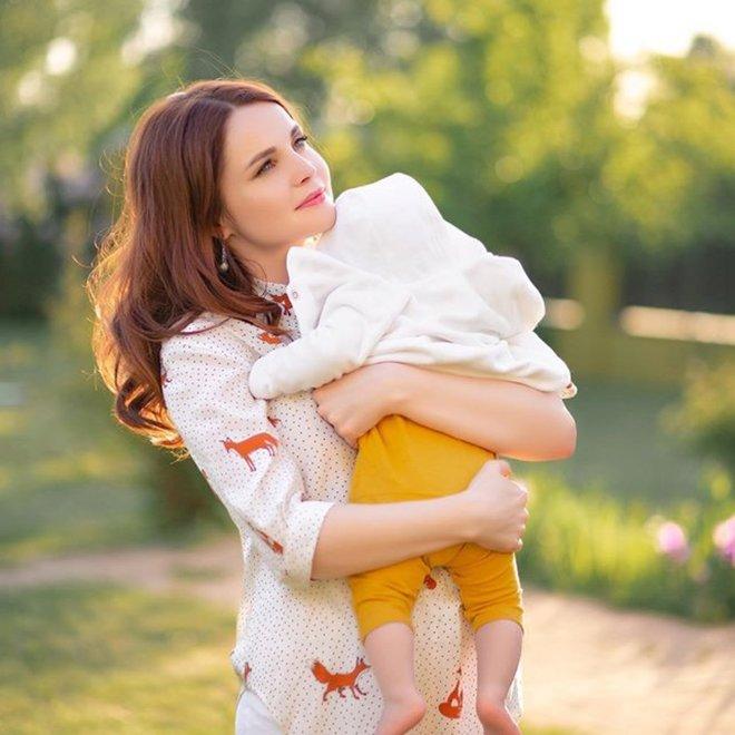 Екатерина Вуличенко с сыном