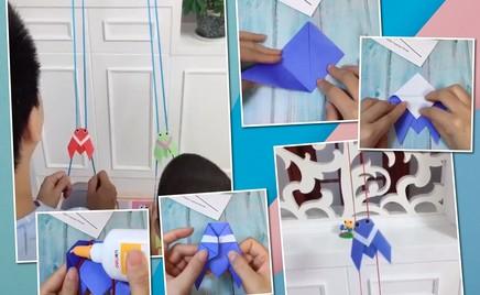 Необычные игрушки: делаем движущихся рыбок из бумаги и ниток