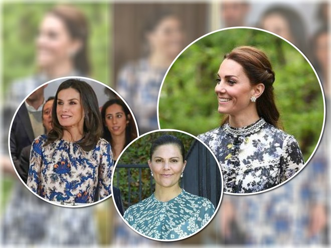 Кейт Миддлтон, королева Летисия и принцесса Виктория показали самое модное платье лета