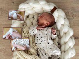 Сладкие сны: вяжем кокон для новорожденного из шерсти мериноса