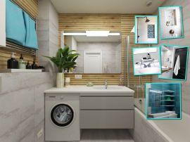 Маленькая ванная: идеи и секреты хранения вещей
