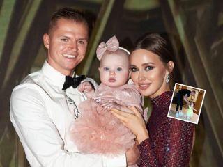 Вместе с папой: дочь Дмитрия Тарасова и Анастасии Костенко делает первые шаги