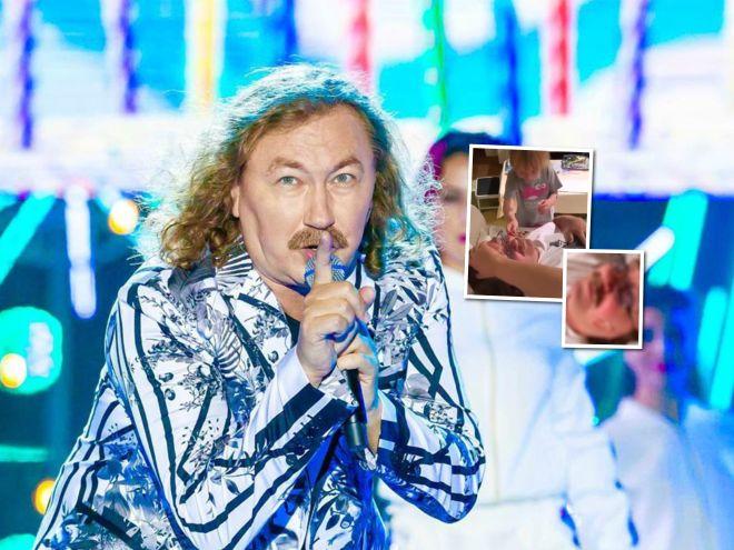 Маленькая хулиганка с наклейками: дочь Игоря Николаева украсила ему лицо, пока он спал