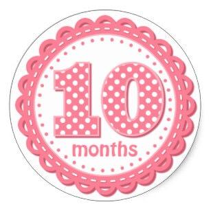 Открытка дочке 10 месяцев
